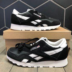 New W/ Box! Reebok Classic Leather Black White